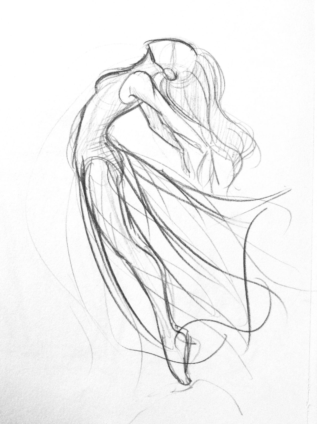 Some dancer sketches. For some I used some photo's from