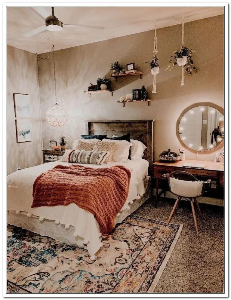 59+ Dekorativer runder Weidenkorb #roomdecor #bedroomdecor #livingroomdecor «H ...