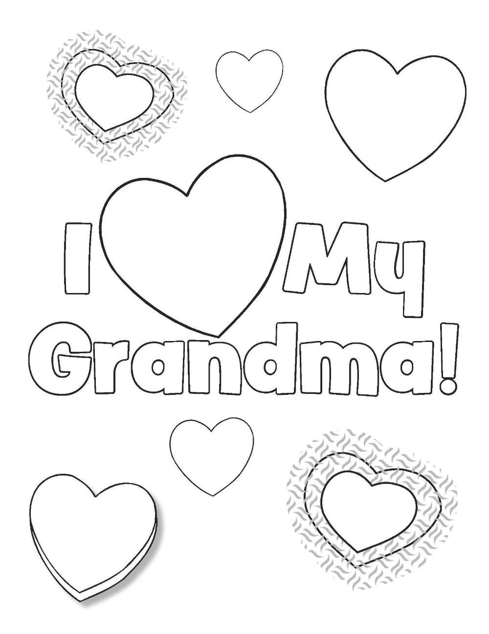 Happy Birthday Grandma Coloring Pages for Kids   Birthday coloring ...