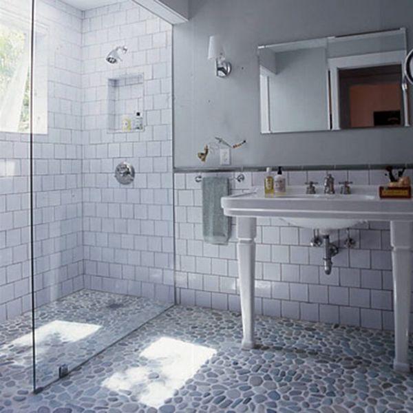 Large Subway Tiles Bathroom: Grip Bathroom Flooring
