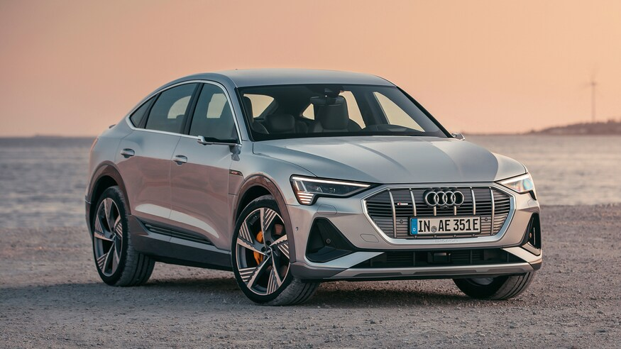 2020 Audi E Tron Sportback First Look Review The Electric Coupe Suv Motor Trend Audi E Tron E Tron Audi