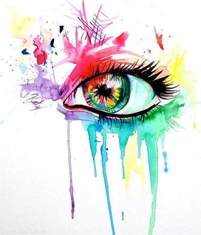 Yeux Arc En Ciel Olhos Desenho Arte Em Aquarela Desenhos Aquarela