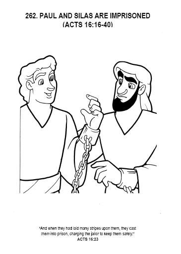 Paul And Silas Coloring Pages Paul And Silas Are Imprisoned