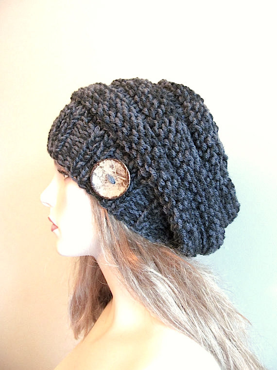 Pdf Knitting Pattern Instant Download Chunky Slouchy Beanies Berets