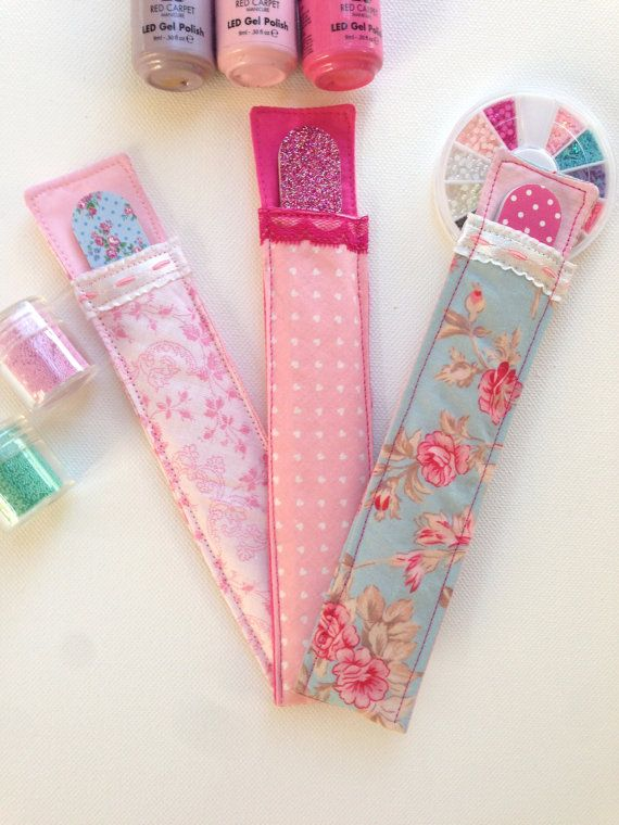 Cute Fabric Nail File Holders with Matching File - Emery Board ...
