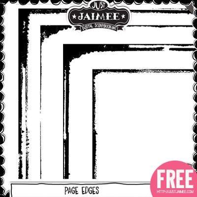 FREE Page Edges By Just Jaimee