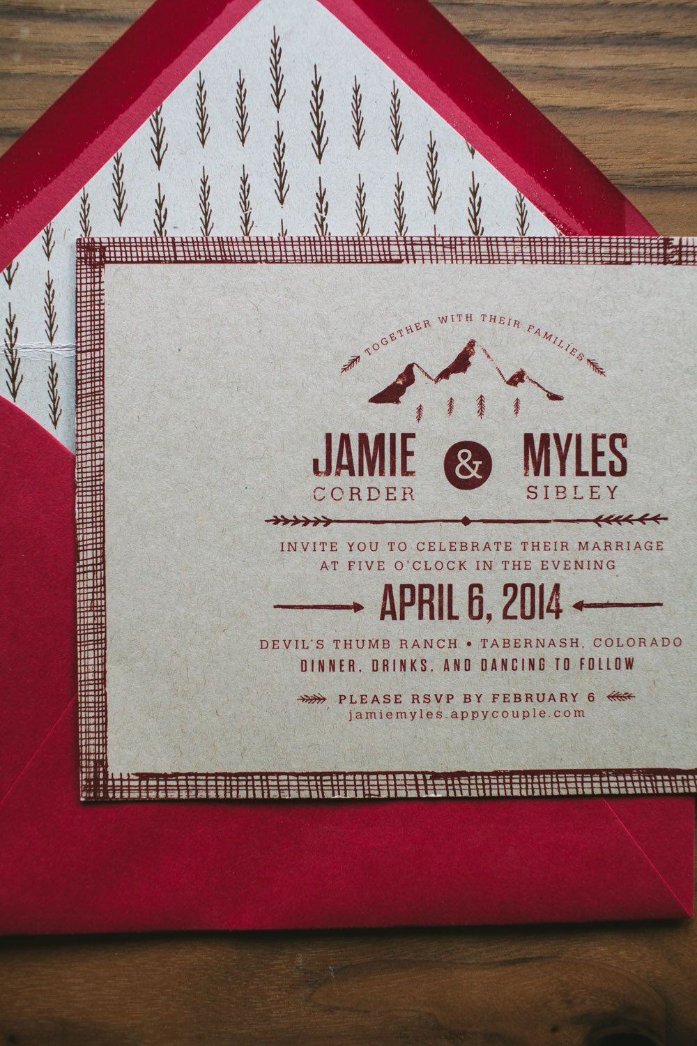 Kraft Wedding Invitation Rustic and Woodland by WideEyesPaperCo ...