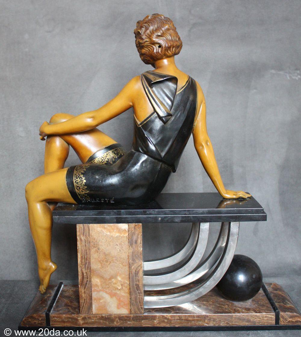 art deco figure by Henri Molins Balleste | Art deco, Desks and ...