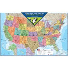 Usa map desk matgiant mouse pad geography education pinterest usa map desk matgiant mouse pad gumiabroncs Image collections
