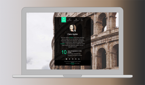 Free One Page Website Html Template  Personal Is A Free To