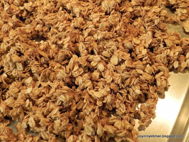 Finding Joy in My Kitchen: Applesauce Granola