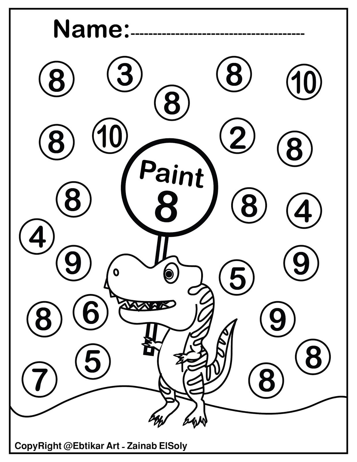 hight resolution of Set of 123 Dinosaur Trex Activity Paint a Dot Preschool Coloring sheets    Abc coloring