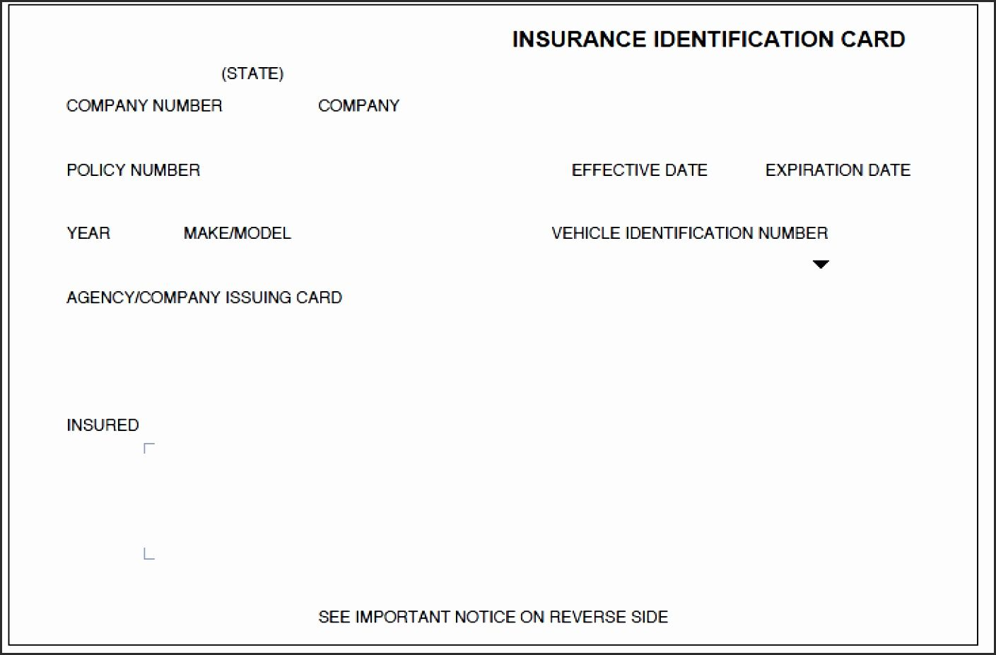 10 Print Free Fake Insurance Cards Card Template Car Insurance