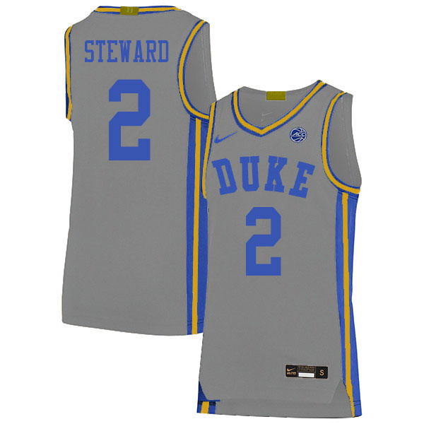 Men 2 Dj Steward Duke Blue Devils College Basketball Jerseys Sale Gray In 2020 College Basketball Jersey Duke Blue Devils Basketball Jersey