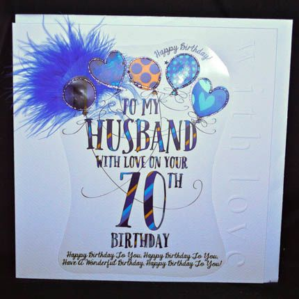 Happy Birthday Husband 70th