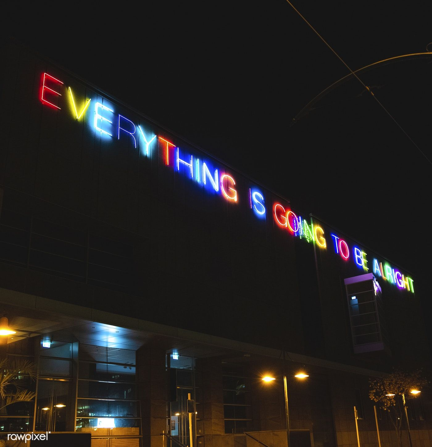 Neon Lit Quote In Christchurch New
