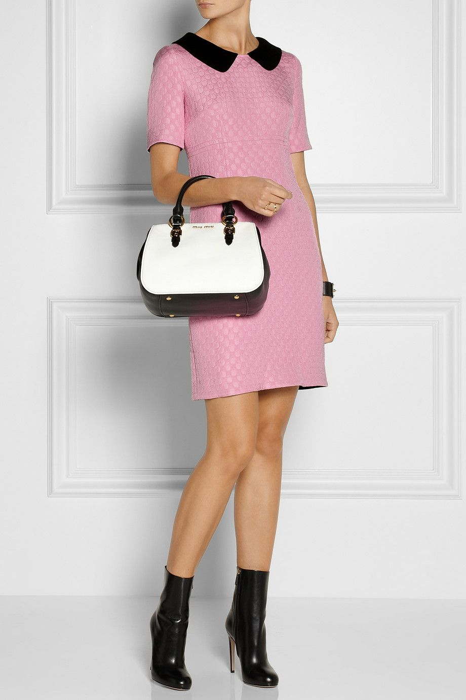 Moschino Cheap and Chic | Polka-dot matelassé dress | NET-A-PORTER.COM