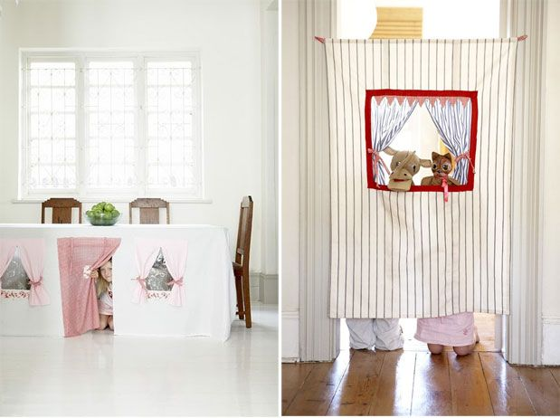 tablecloth playhouse and doorway puppet theatre