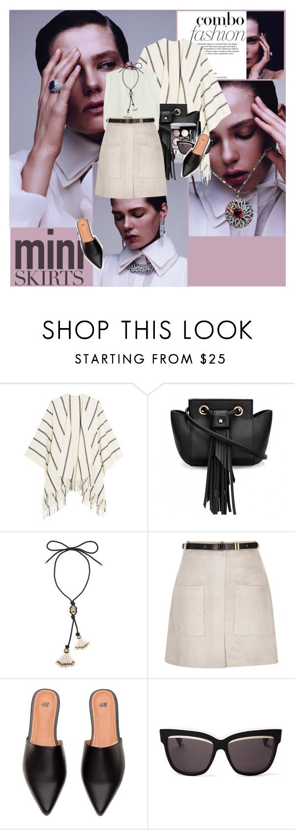 """..."" by margarita-m-a ❤ liked on Polyvore featuring rag & bone, Chanel, Maison Margiela, Lanvin, River Island, Christian Dior and MINISKIRT"