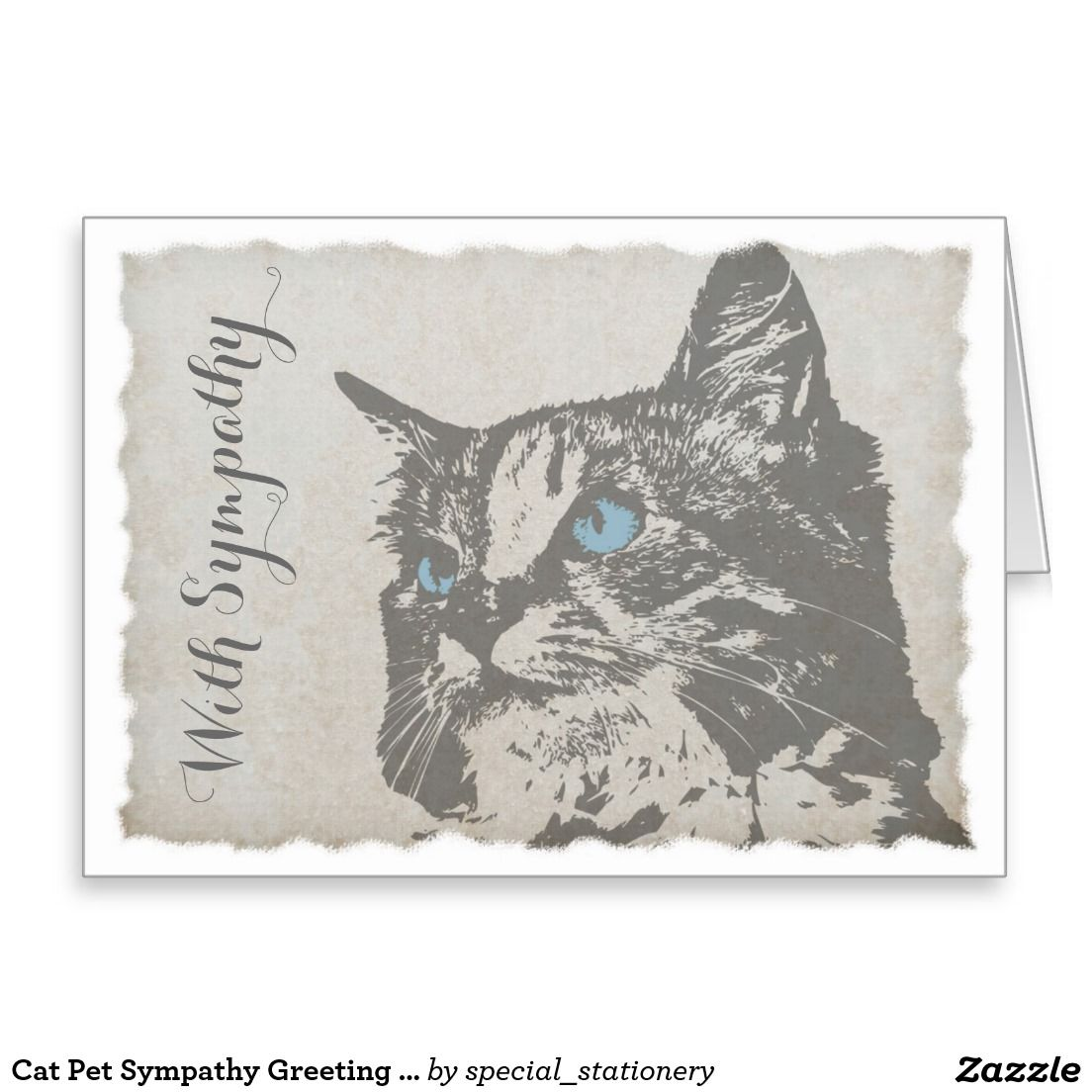 Cat Pet Sympathy Greeting Card Thinking Of You Greeting Cards