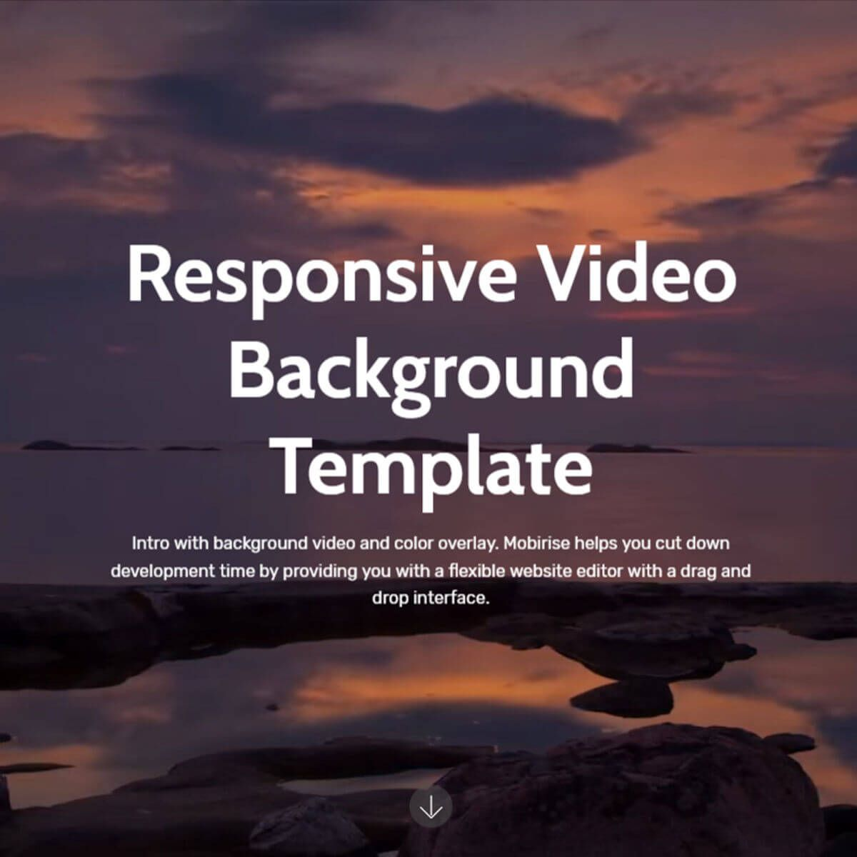 Responsive Bootstrap Video Background Template