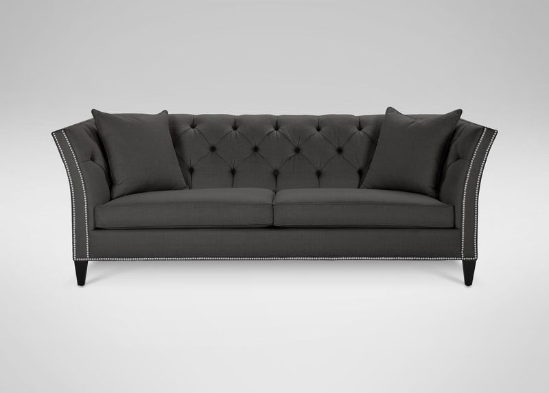 Ethan Allen Shelton Sofa May Be Too Sleek But Could Work Instead Of Mive Chesterfield