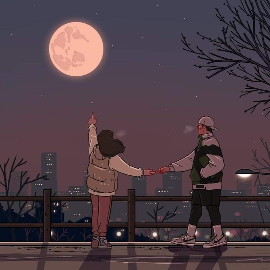 Pin By Linh Bui On Artsy Illustrations Anime Scenery Wallpaper Cute Couple Drawings Anime Scenery Anime couple aesthetic wallpaper