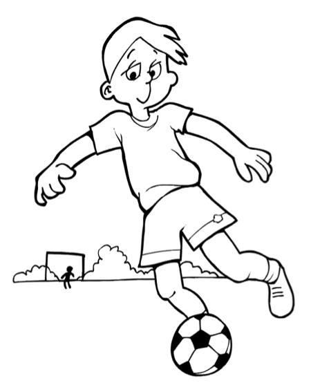 Quatang Gallery- Voetballende Jongen Kleurplaat Klaarwerk Nl Voetballen Kleurplaten Voetbal
