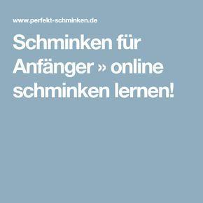 Online Schminken