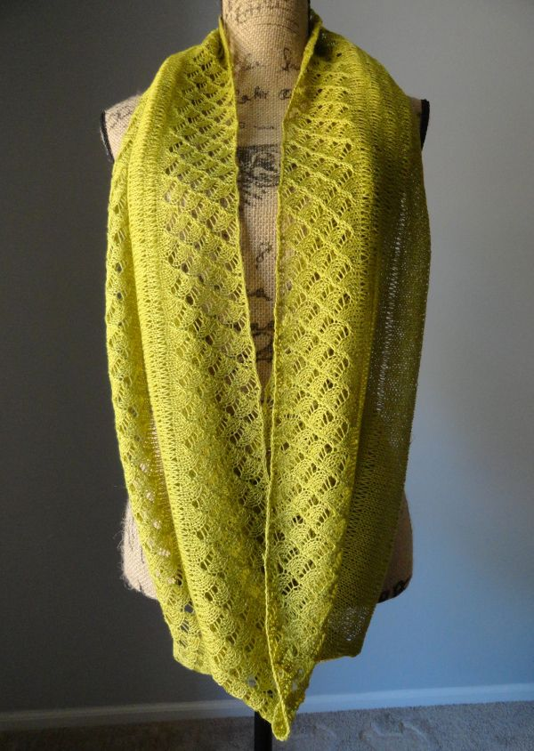 Spring Lace Infinity Scarf Knitting Stuff Lace Knitting