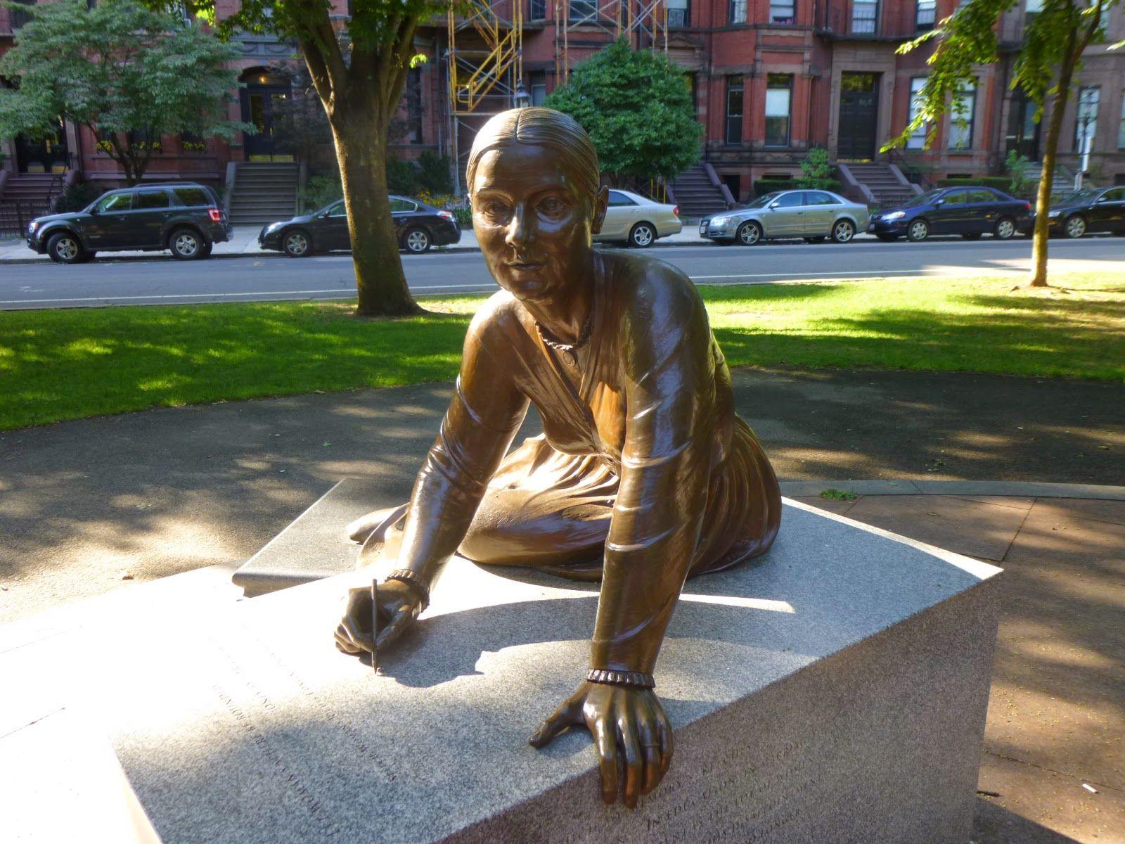 Statues of Historic Figures: Boston Women's Memorial - Boston, MA Lucy  Stone Born in