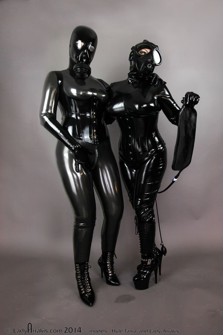 Heavy rubber bondage clothes