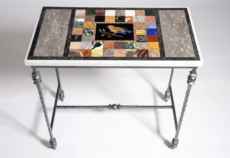 Unique #pietradura #marbletable handmade in Devon by Matt Hurley