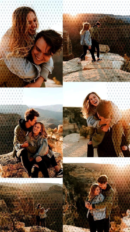 Grand Canyon abenteuerlustige Paare / Verlobungssitzung -