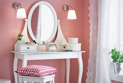 Coiffeuses | chambres fillettes | Pinterest | Ikea dressing table ...