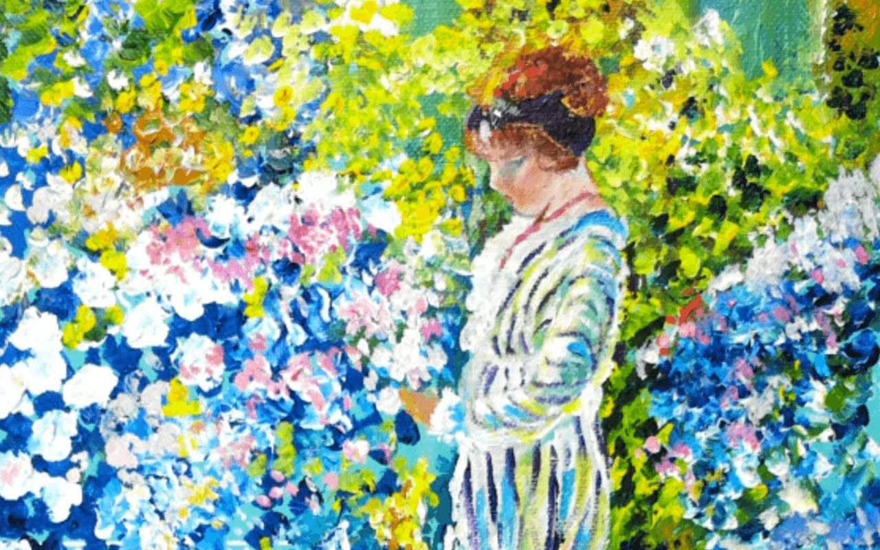 How To Paint An Impressionist Lady In A Garden Step By Tutorial