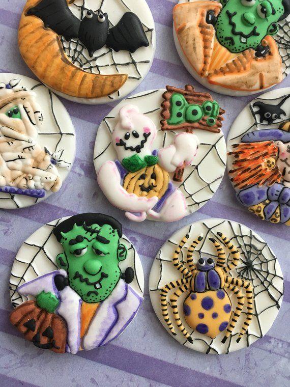 Edible Fondant Halloween toppers / Halloween toppers / Halloween