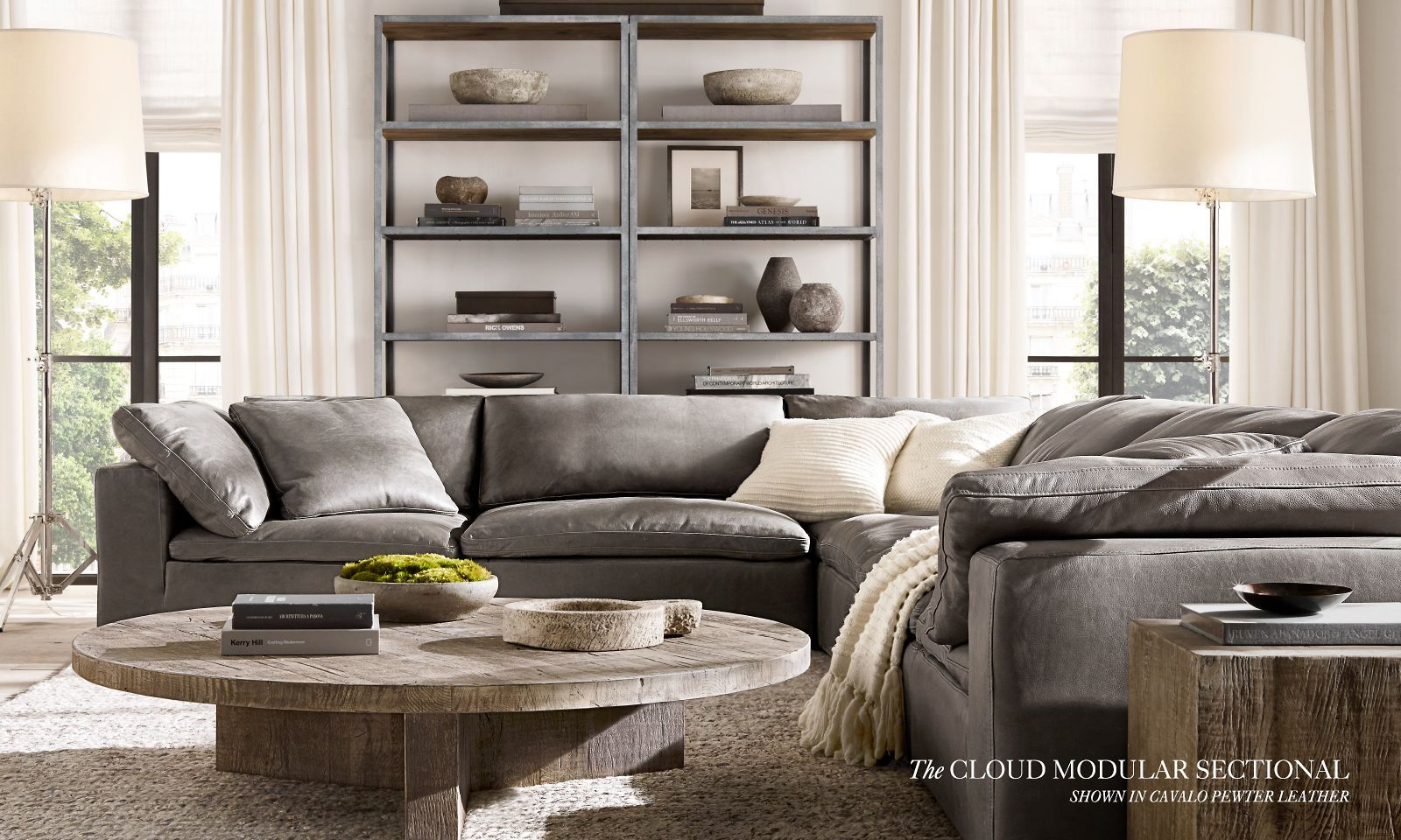 Canapé Modulable Atlas The Cloud Modular Sectional Shown In Cavalo Pewter Leather