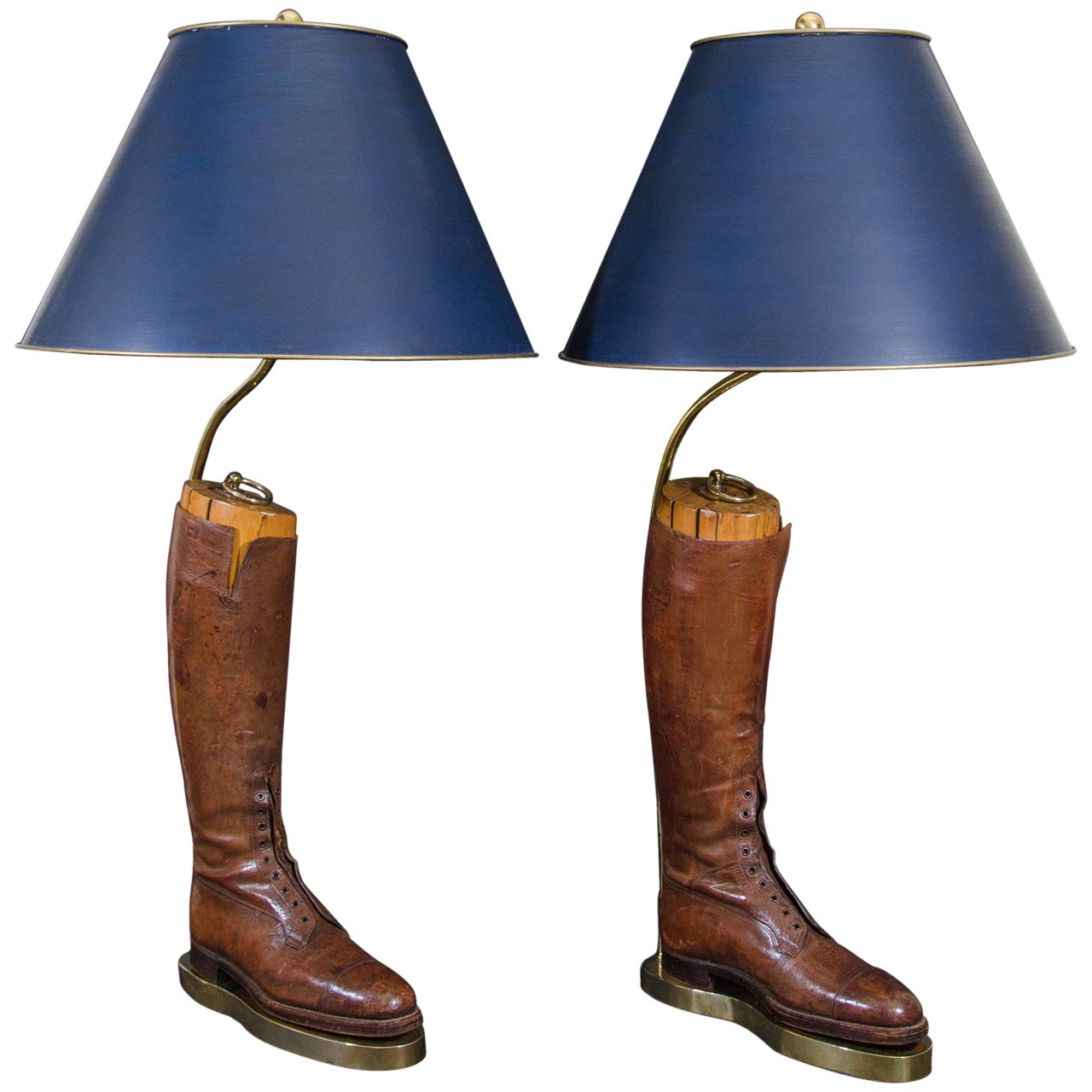 Leather Riding Boot Lamps With Wooden Forms 1stdibs Com Riding Boots Leather Riding Boots Boots