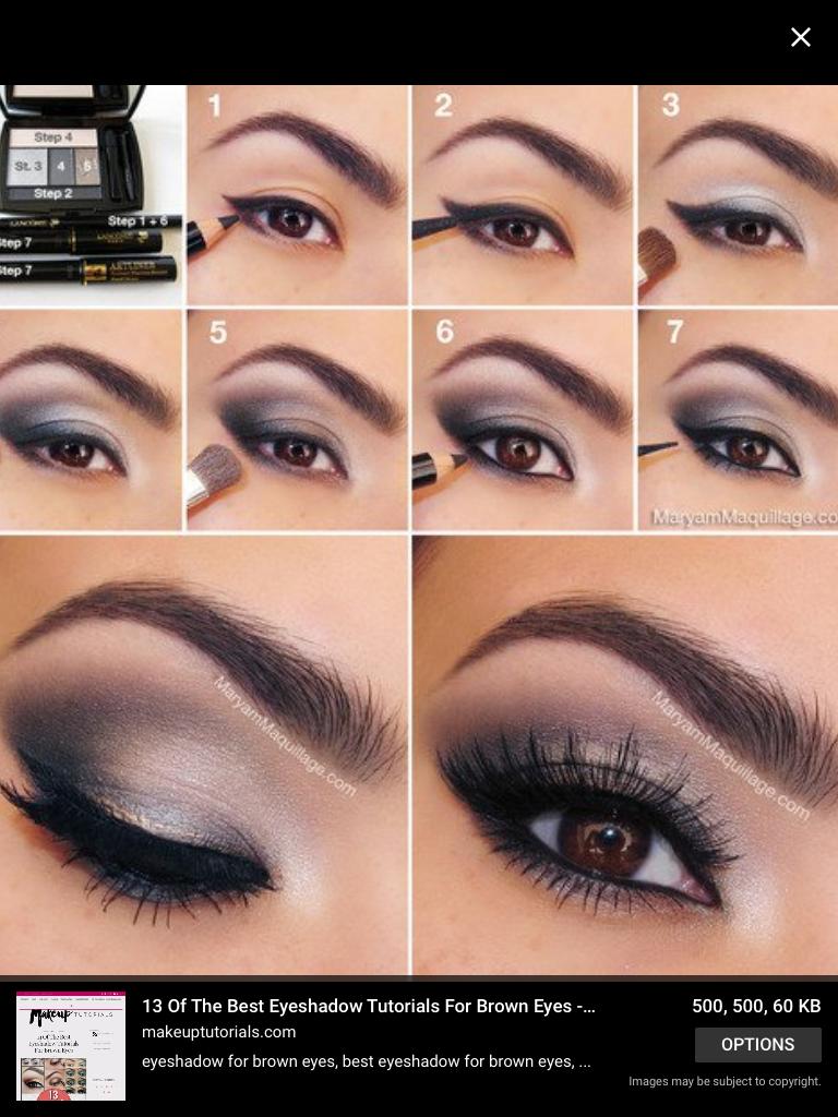 brown eyes smokey grey eyeshadow tutorial | eye makeup in 2018