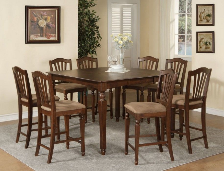 Dining Room Designs Fascinating Square Dining Table For 8 Design Inspiration Tall Dining Room Sets Review