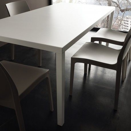tavolo rettangolare moderno in acciaio per cucina e ideale per ...