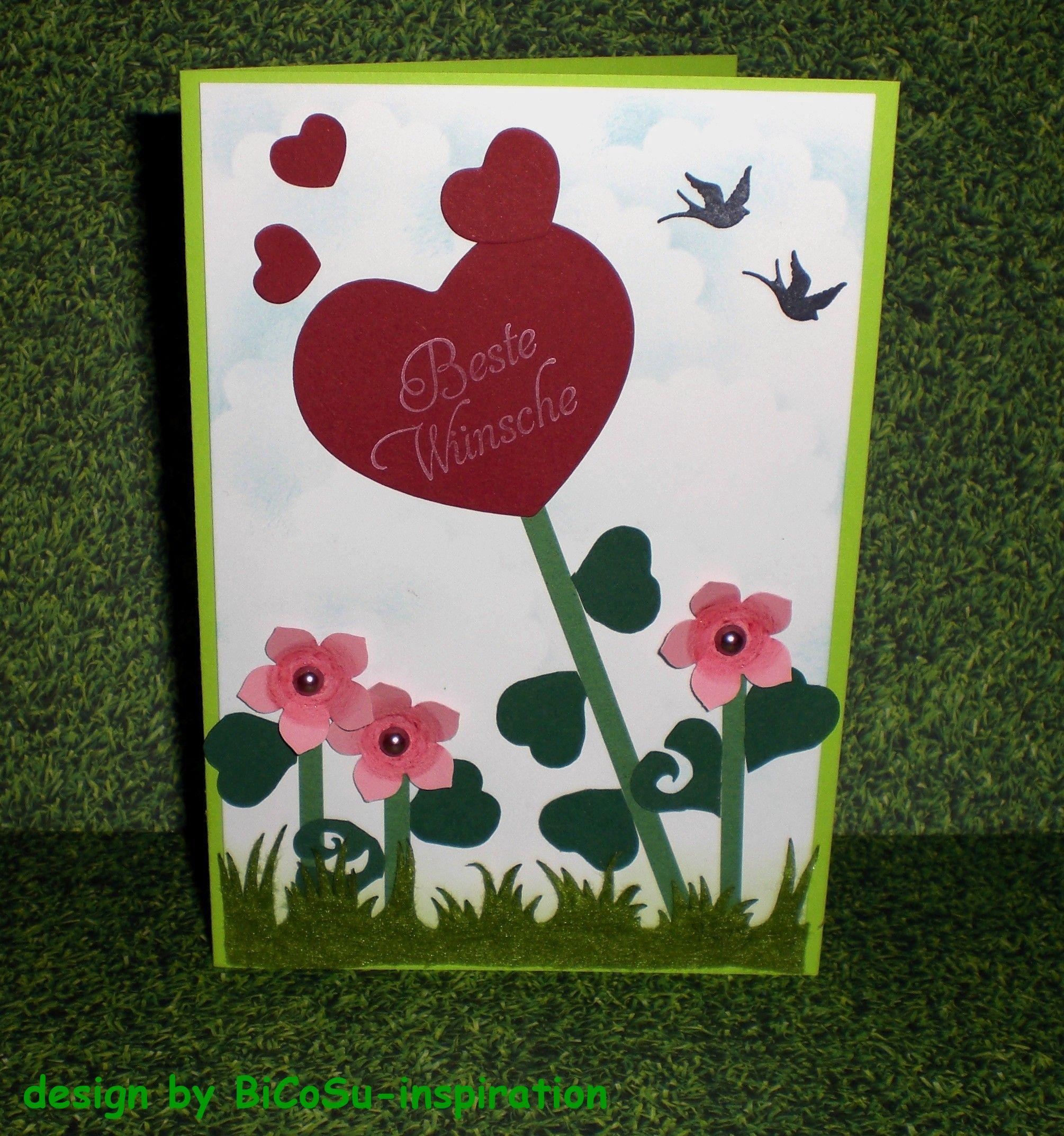 Muttertagskarte - Geburtstagskarte --- mothers day cards - birthday cards --- stampin up petite petals punch
