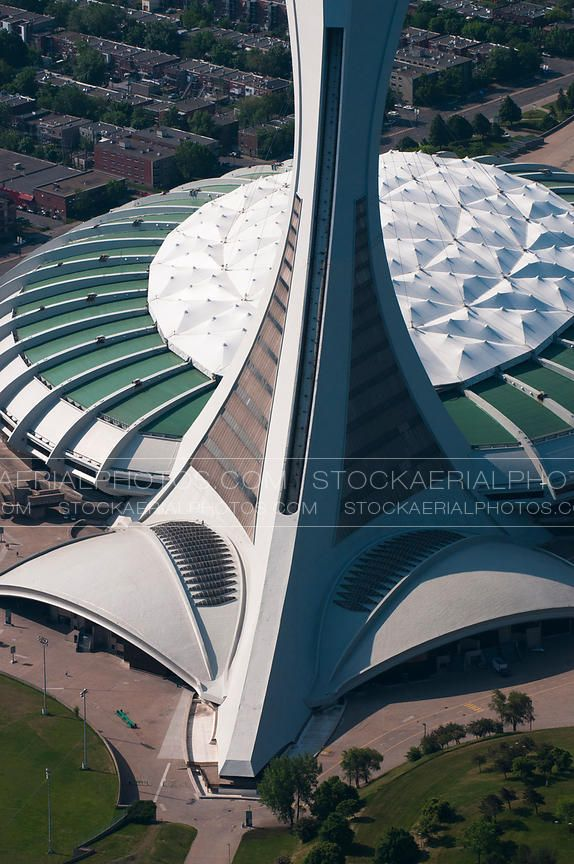 Stockaerialphotos Com Aerial Stock Photography Aerial View Of Montreal Olympic Stadium Olympic Stadium Montreal Aerial View Montreal