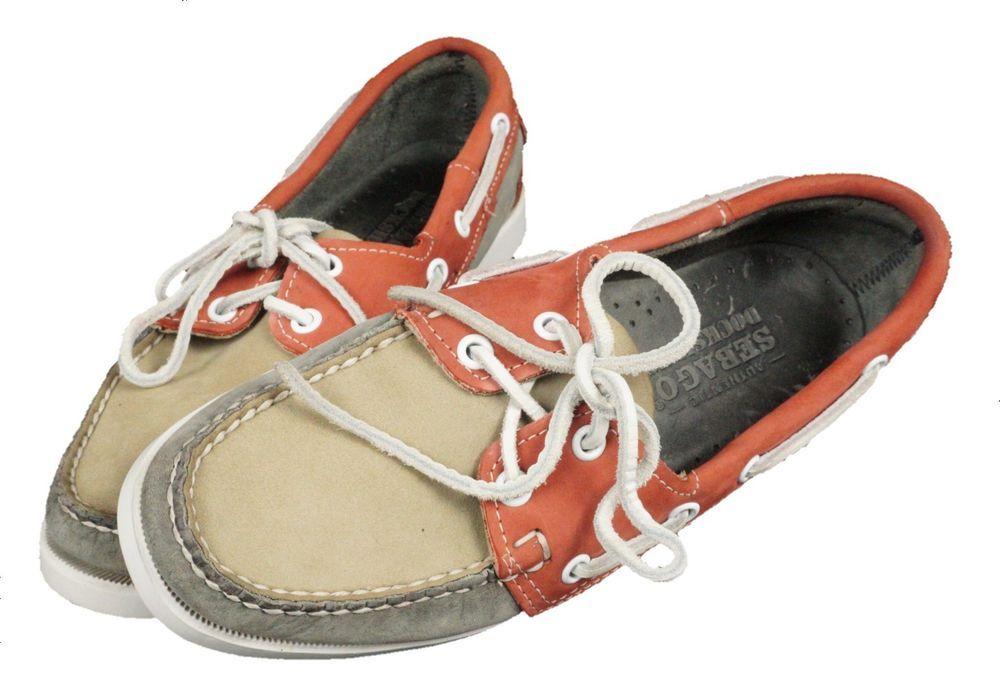d06c2d0e62 Sebago Docksides Boat Shoes Multi-Color Nubuck Style Women s Adult Size US  7 M  Sebago  NubuckFlatOxfordStyleBoatShoe  Casual