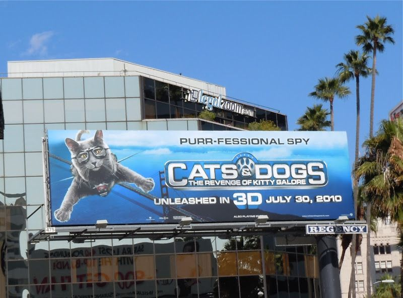 Cats And Dogs 3d Movie Billboards Dog Cat Dogs Cats