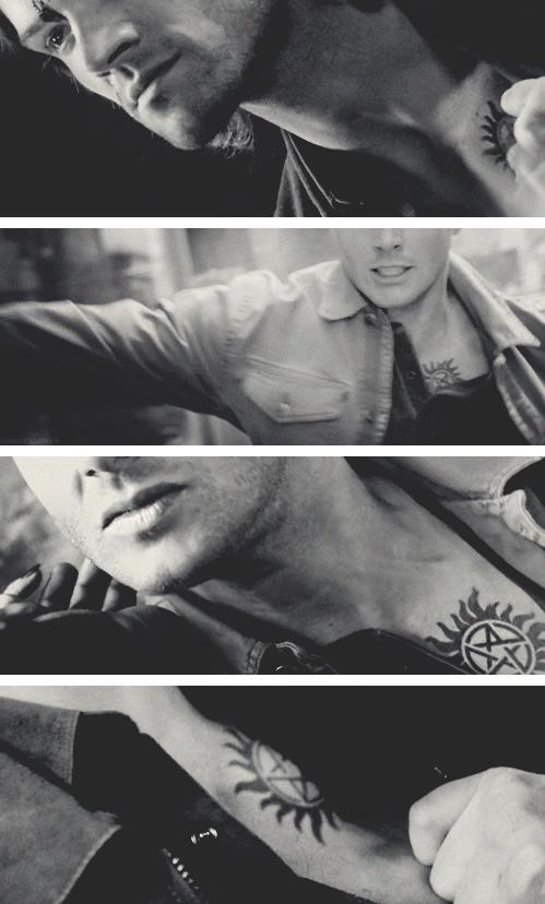 Jensen Ackles as Dean Winchester Supernatural Tattooed