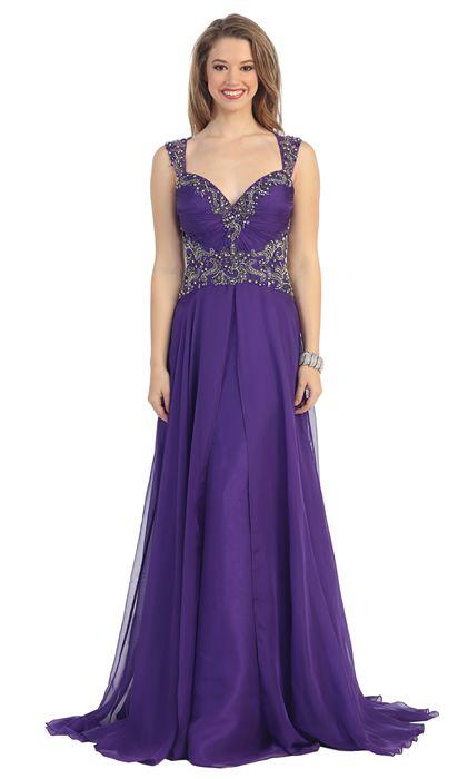 Arabian Prom Dresses Purple