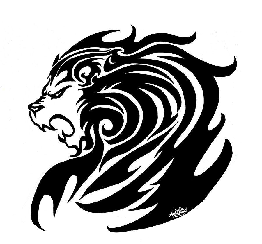 Tribal Lion by moonlightdarkangel printable stencil patterns