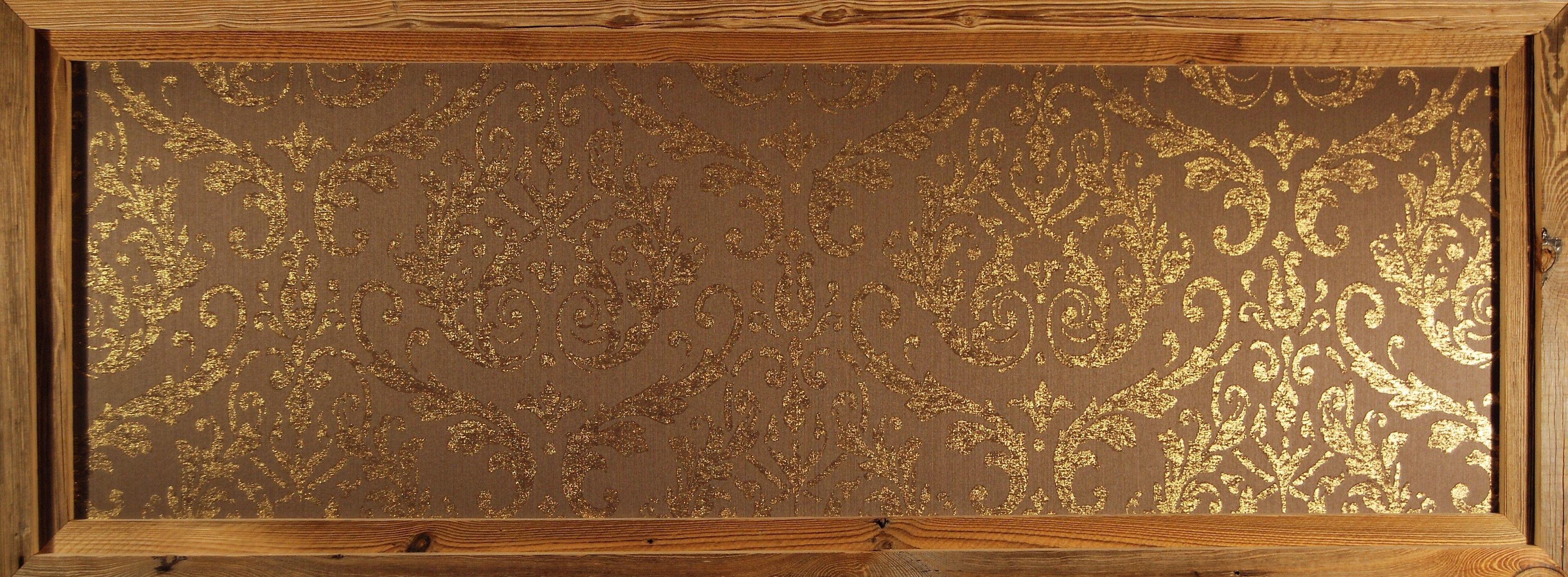 Bestell Nr 009 Omexco Elegance Wallpaper Gold Braun Textil